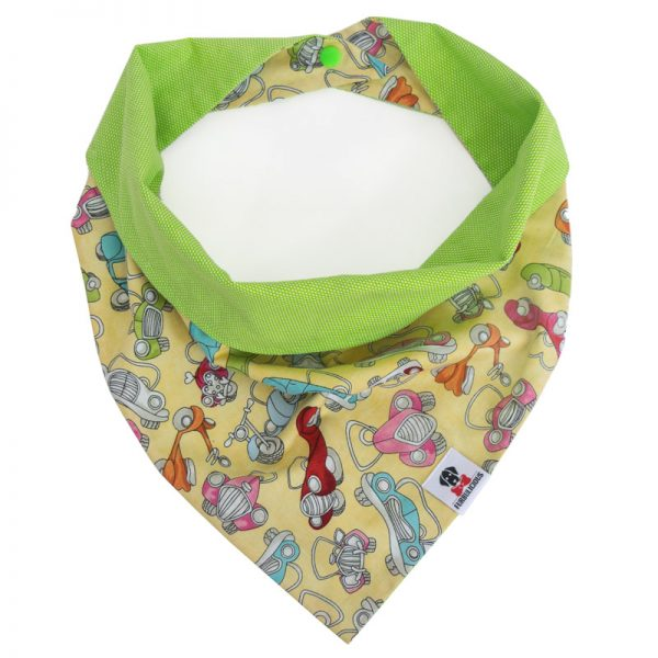 Furbulicious reversible snap pet dog bandana in green