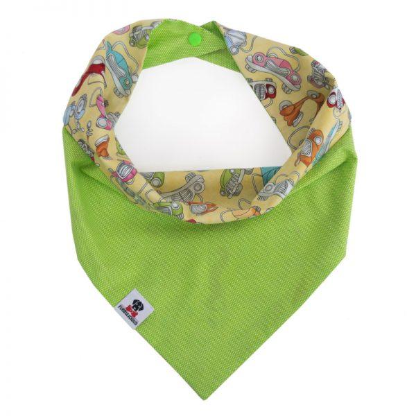 Furbulicious reversible snap pet dog bandana in green