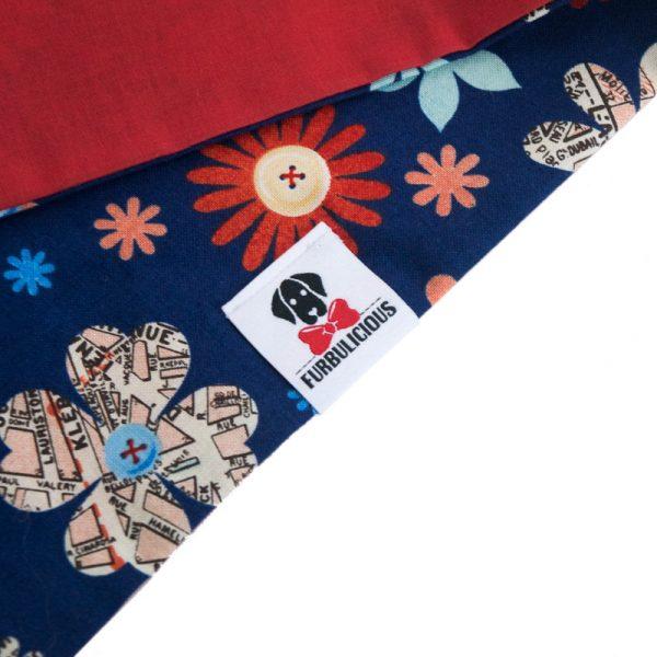 Furbulicious pet dog bandana blue and red American flag