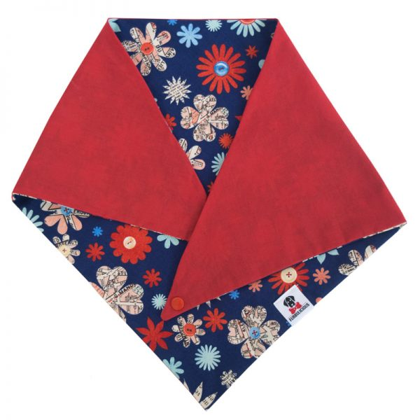 Furbulicious pet dog bandana blue and red American flag