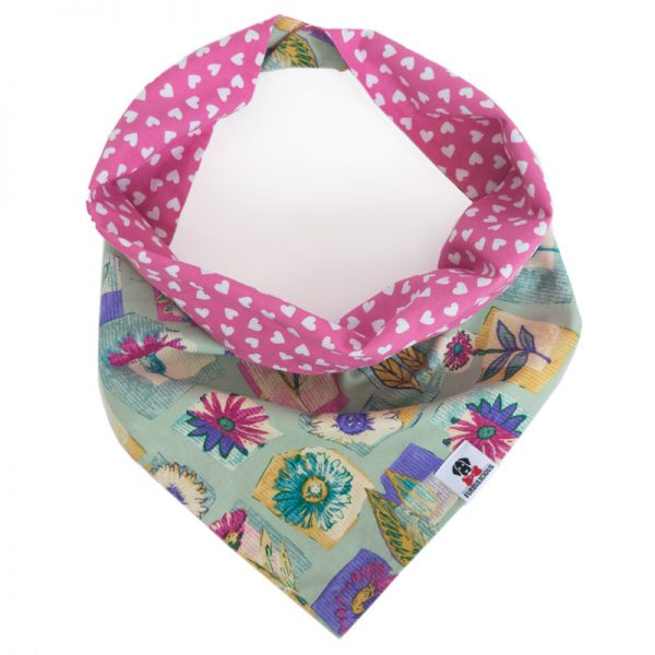 Furbulicious pet dog bandana with Hearts and Flowers