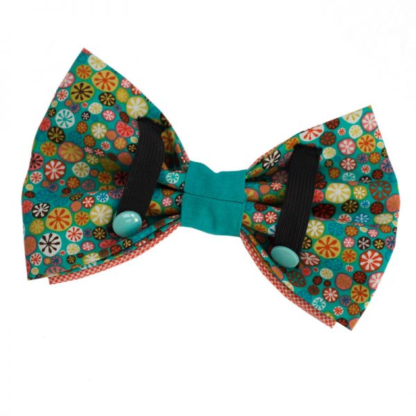 Furbulicious Pet Dog Accessories Bow Tie Flower Power Coral