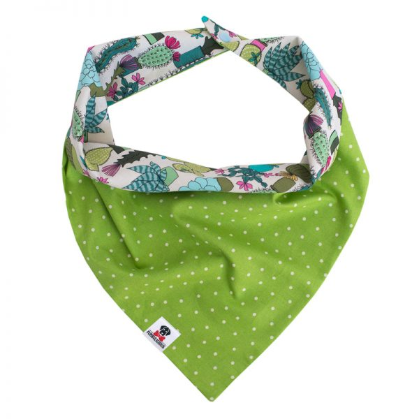 Furbulicious Pet Dog Accessories bandana Cactus Garden Green
