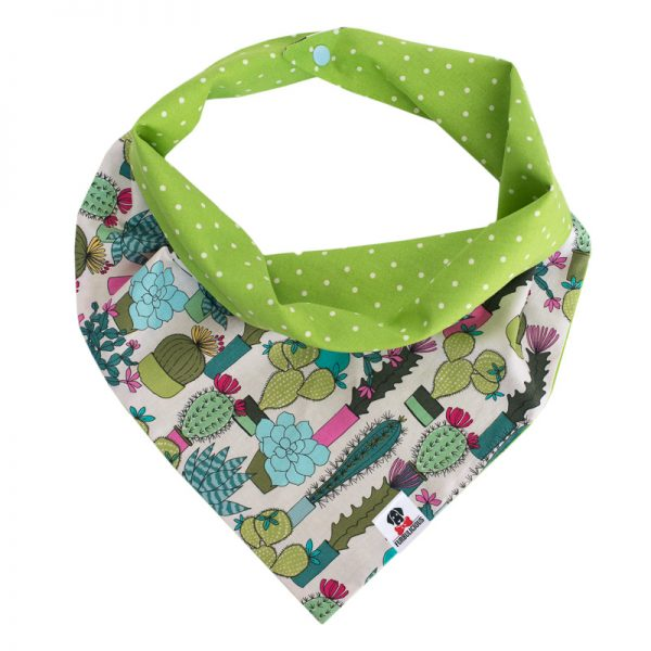 Furbulicious Pet Dog Accessories bandana Cactus Garden Green