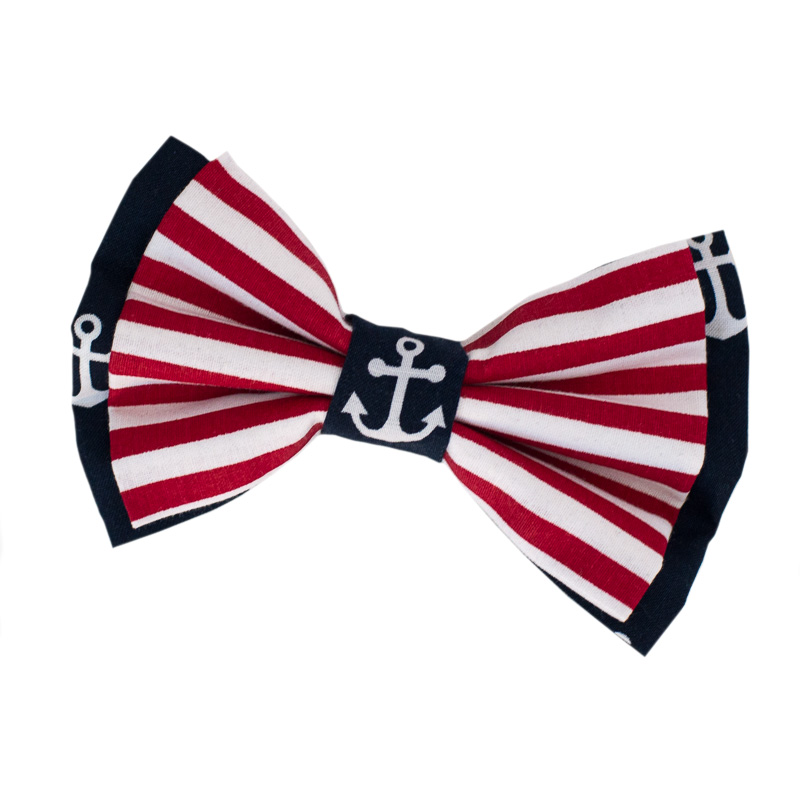 6879d08348 Naval Stripes Double Bow Tie For Dogs By Furbulicious Pet Accessories