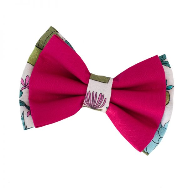 Furbulicious Pet Dog Accessories Bow Tie Cactus Garden pink