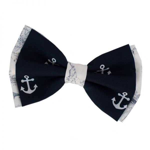 Furbulicious Pet Dog Accessories Bow Tie Naval Collection Anchor