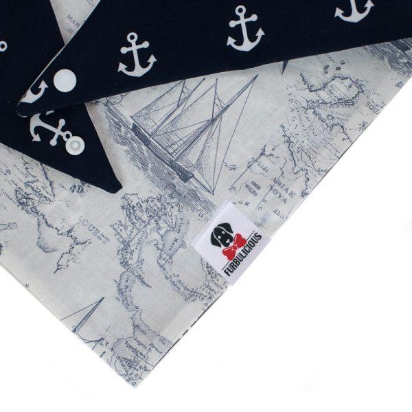 Furbulicious Pet Dog_Accessories bandana Naval Collection Map