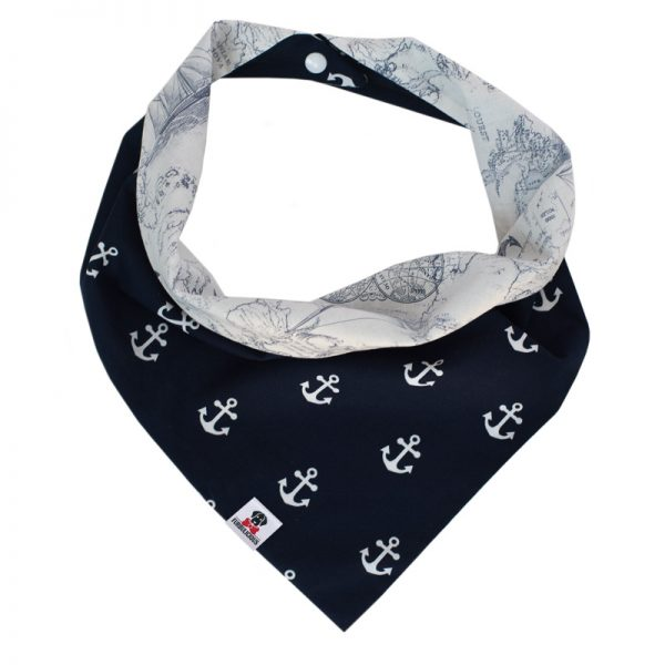 Furbulicious Pet Dog Accessories bandana Naval Collection Map