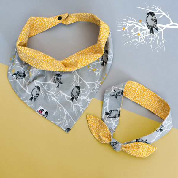 Furbulicious Match Your Pet Set: Bandana and Scarf Birdie Collection Yellow