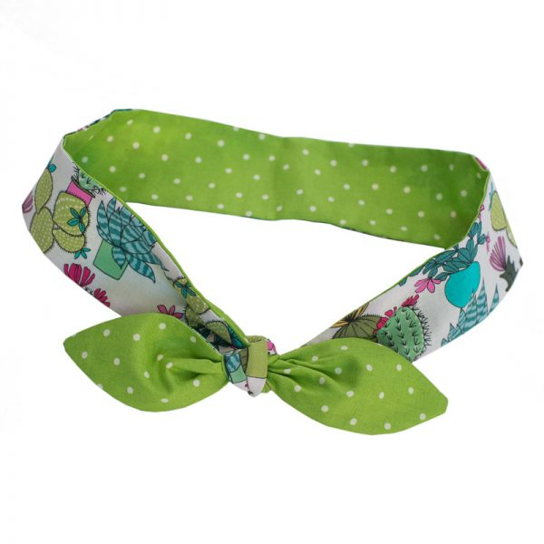 Furbulicious Match Your Pet Set: Bandana and Scarf Cactus Garden Green