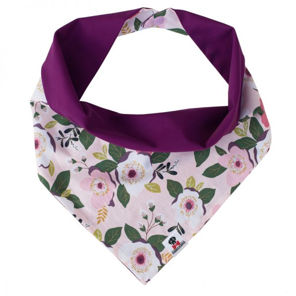 Furbulicious Pet Dog Bandana Flower Garden Purple