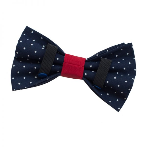 Furbulicious Pet Dog Accessories Blue Polka Dot Bow Tie