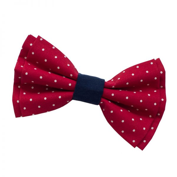 Furbulicious Pet Dog Accessories Red Polka Dot Bow Tie