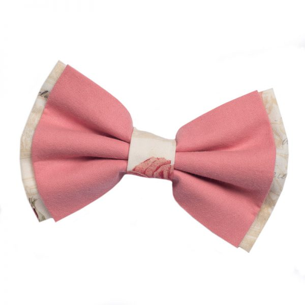 Furbulicious Pet Vintage Pink Roses Bow Tie for Dogs
