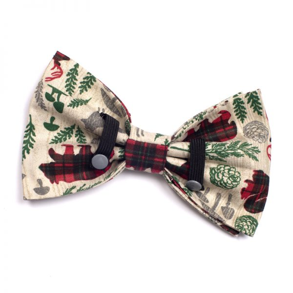 Furbulicious Pet Winter Forrest Bow Tie for Dogs