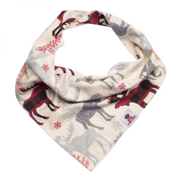 Furbulicious Pet Dog Accessories Flannel Christmas Reindeer Bandana