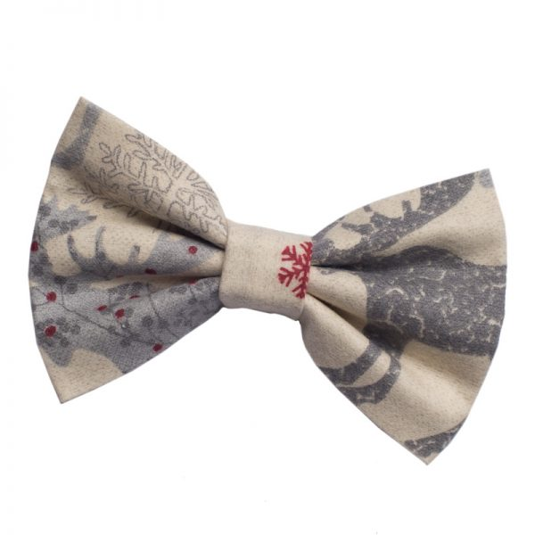 Furbulicious Pet Flannel Christmas Bowtie for Dogs