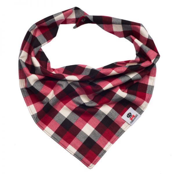 Furbulicious Pet Dog Accessories Flannel Christmas Red Plaid Bandana