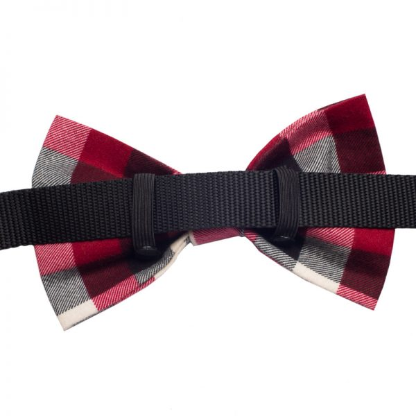Furbulicious Pet Flannel Christmas Red Plaid Bow tie for Dogs